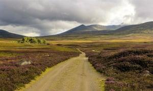 Lochnagar from Balmoral and Gelder Shiel Stables
