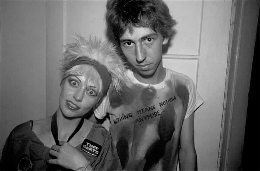 Hollywood punks posing backstage.