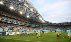 The Socceroos at ANZ Stadium in Sydney