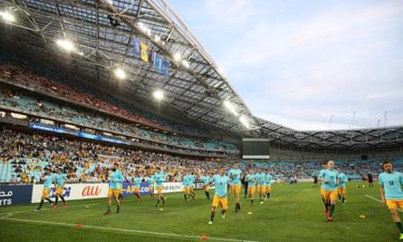 The Socceroos at ANZ Stadium in Sydney