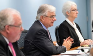 On Thursday the six royal commissioners led by Justice Peter McClellan, centre, will sit for a final time in front of abuse survivors and advocates.