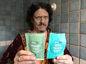 Mud, glorious mud: Jay Rayner tries a facemask which, the packet says, will 'extract, pull and detoxify'