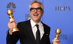 Alfonso Cuarón won two Golden Globes for Roma and is tipped for further success at the Oscars.