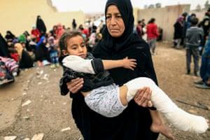 Mosul, Iraq A displaced woman