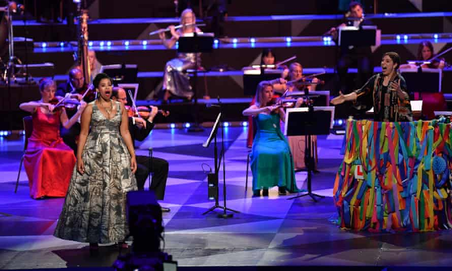 A socially distanced Last Night of the Proms at the Royal Albert Hall in September 2020