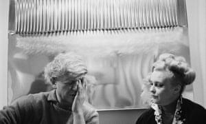 German artist Heinz Mack and Italian designer Nanda Vigo, circa 1975