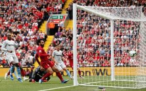 Salah scores the opener.