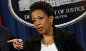 The US attorney general, Loretta Lynch, gets tough with 'the cartel' of international banks.