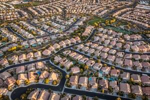 """Las Vegas in Nevada, US. Longitude: -115¡33' 53.11"""" Summerlin West, Las Vegas"""