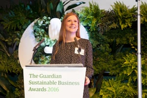 Laura Paddison, editor of Guardian Sustainable Business, closes the ceremony.