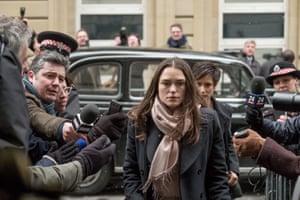 Keira Knightley as Katharine Gun in the film Official Secrets.