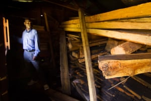 Forestry Department's store of confiscated Mulanje cedar planks.
