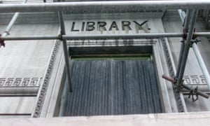 a disused library in Hackney, London