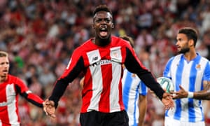 Athletic Bilbao's Inaki Williams opened the scoring.