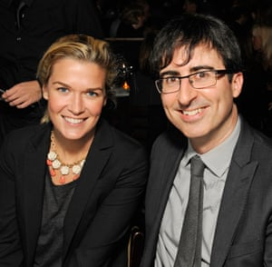 """Kate Norley and John Oliver attend Comedians """"Stand Up"""" for Scleroderma at Cool Comedy - Hot Cuisine at Caroline's On Broadway on October 22, 2012 in New York City."""