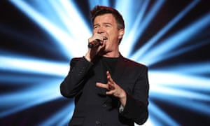 Rick Astley on stage