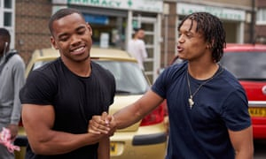 Not what they seem … Joivan Wade as Shiro, left, and Percelle Ascott as Kyle in the story created by London MC Rapman.