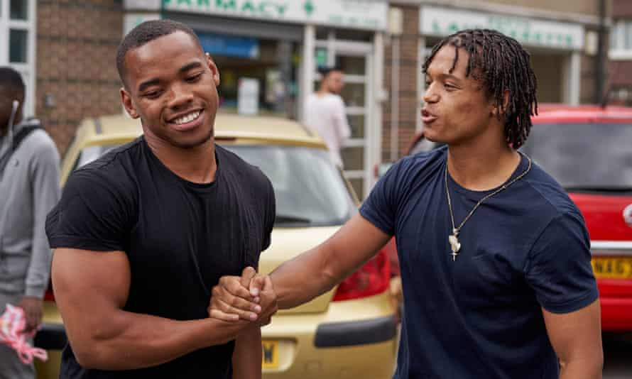 Joivan Wade and Percelle Ascott in Shiro's Story, a crime drama airing on YouTube, written and directed by Rapman.
