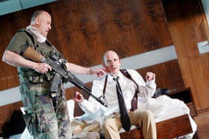 Thomas Thieme as the Soldier and Ulrich Muhe as Ian in Blasted (Zerbombt) at Barbican theatre, London, in November 2006