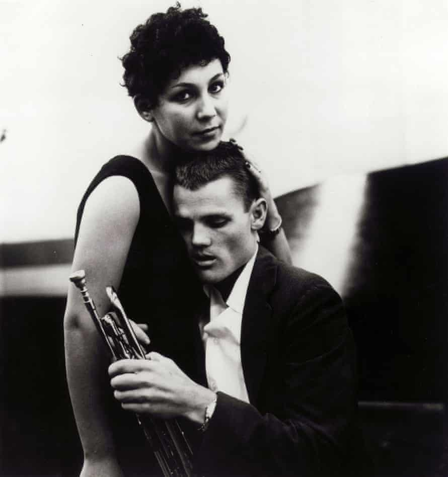 Liliane Rovère with jazz musician Chet Baker in the 1950s.