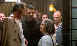 Ward stories … Jeff Goldblum, Zachary Quinto and Jodie Foster in Hotel Artemis.