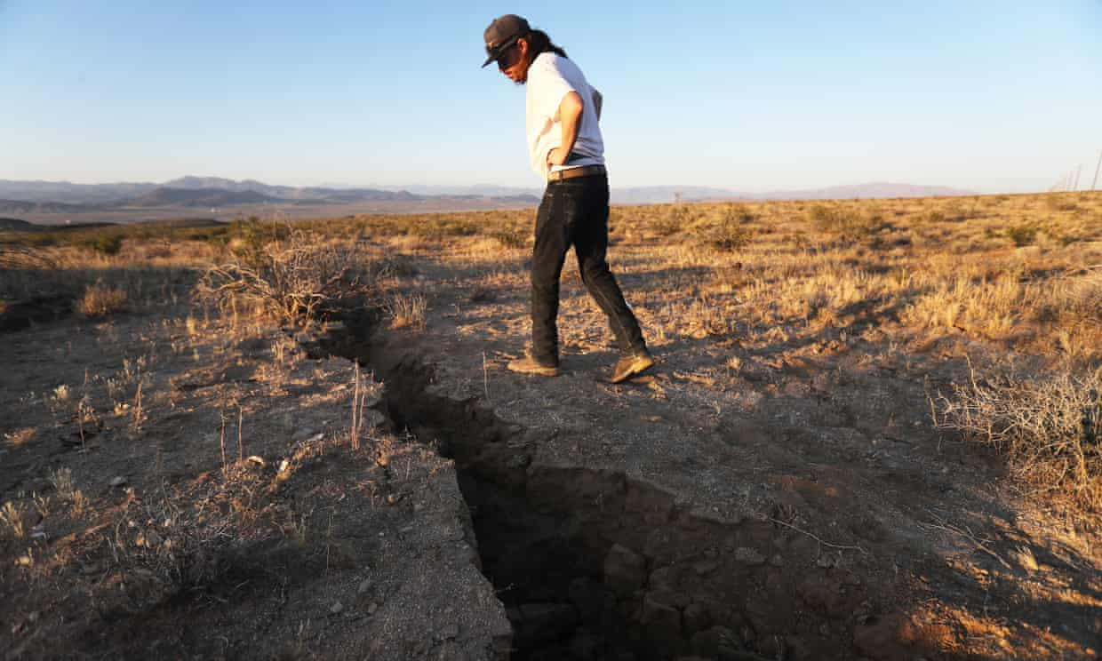 Ruptures in Garlock fault in California