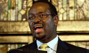 Clementa Pinckney speaking at a service at the Emanuel church in 2012.
