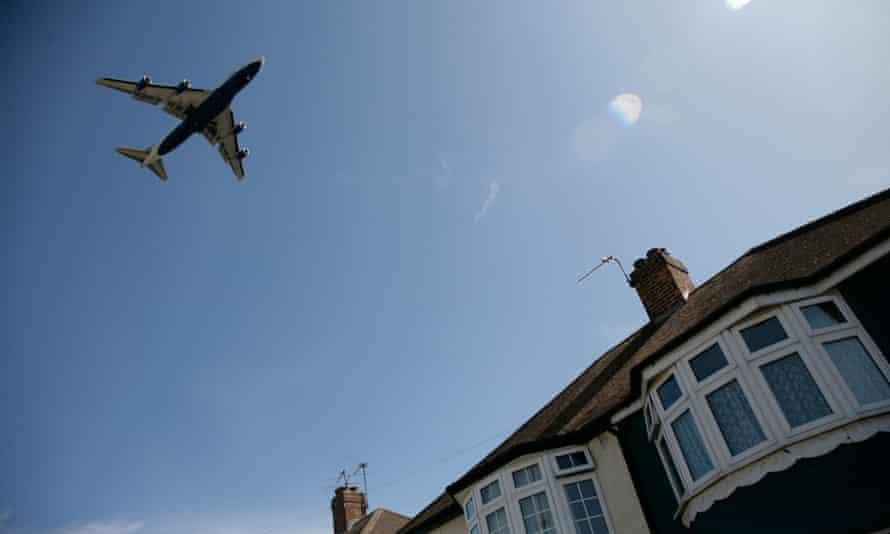 A plane near Heathrow