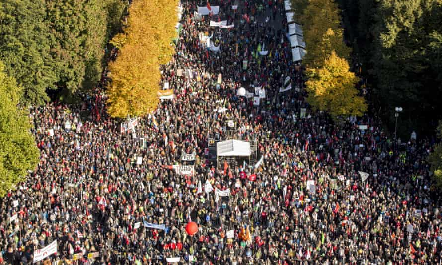 Thousands protested against TTIP in Berlin last autumn.