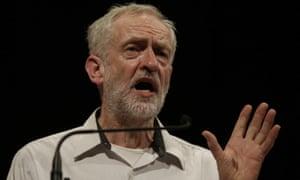 Jeremy Corbyn addressing a meeting in Ealing, west London.