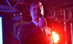 Dominic Grieve speaks on stage outside the House of Commons last Tuesday.