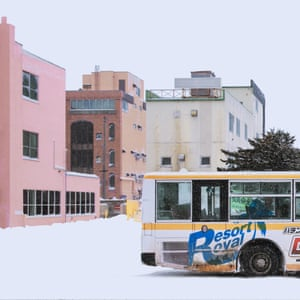 An image of buildings in the snow from Chinese photographer Ying Yin's series Wind of Okhotsk