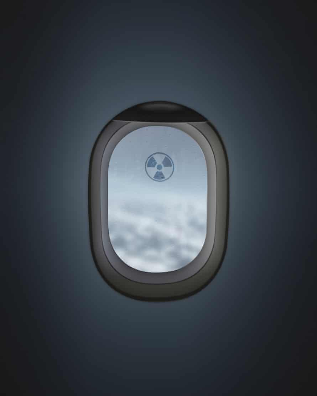 View through an aeroplane window