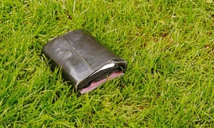 Lost wallet in grass