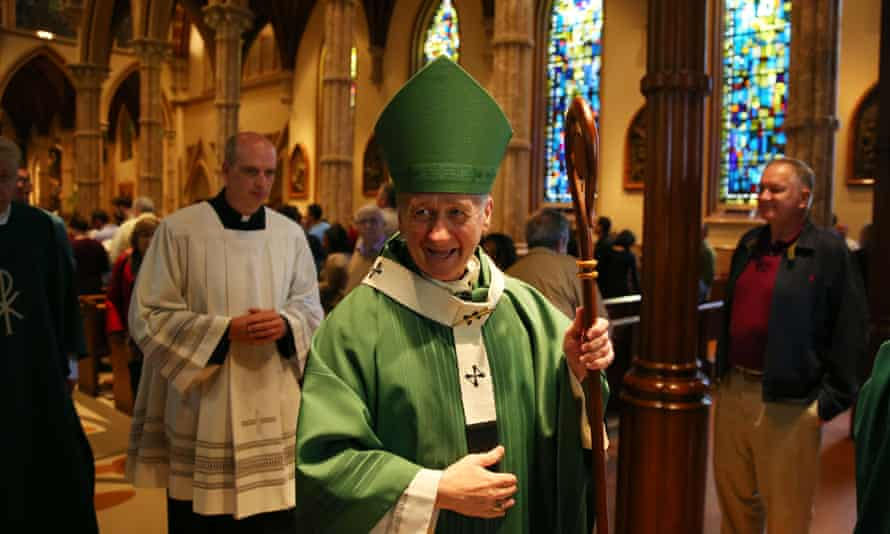 Archbishop Blase Cupich, one of the three new cardinals from the US announced by Pope Francis, at mass in Holy Name Cathedral, Chicago.