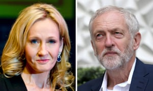 JK Rowling and Jeremy Corbyn