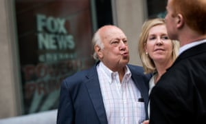 Ailes with wife Elizabeth Tilson.