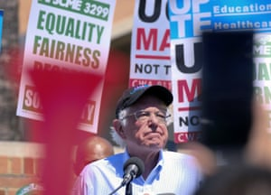Bernie Sanders is entering the race as a frontrunner this time around.
