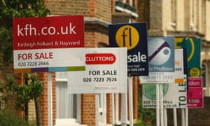 Property for sale signs in London