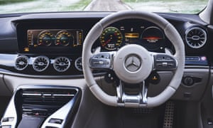 Wheel life: the super-smart dashboard of the Mercedes-Benz AMG GT.