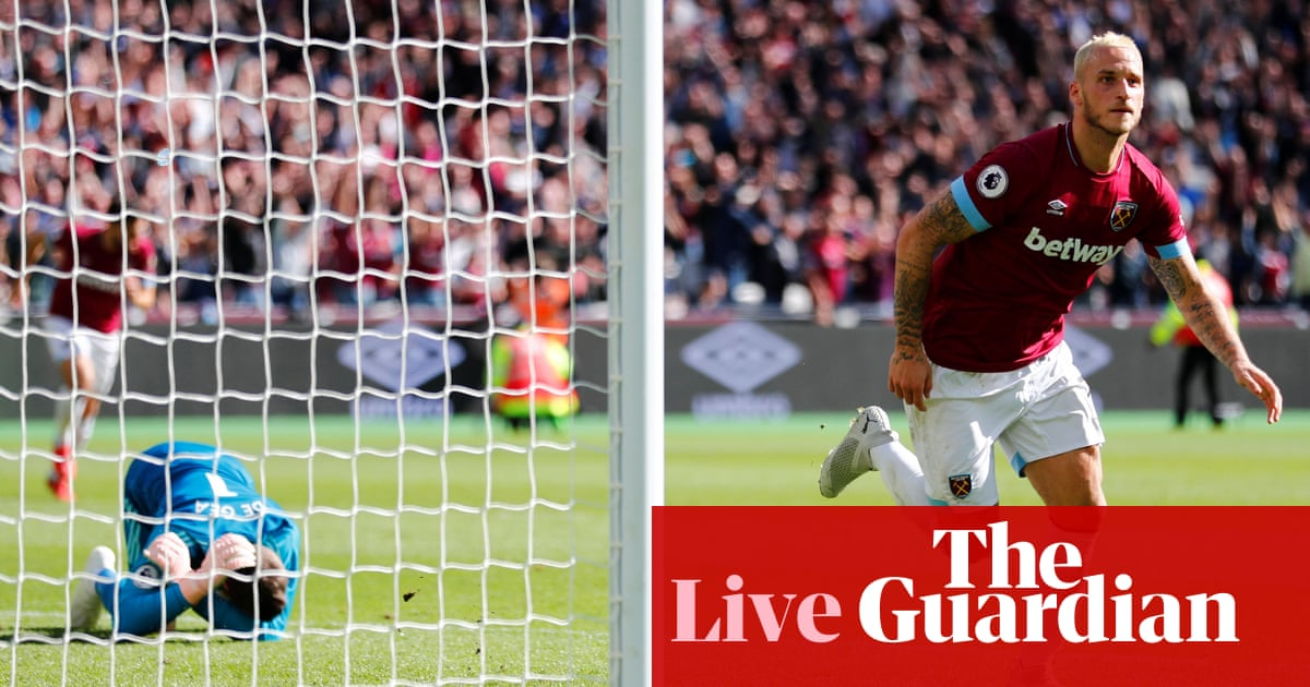 32faba532 West Ham United 3-1 Manchester United  Premier League – as it ...