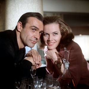 Sean Connery and Honor Blackman in Goldfinger