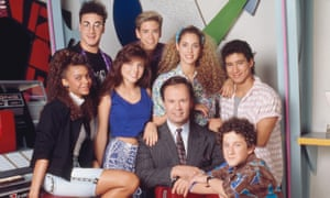 The cast of Saved by the Bell in at The Max diner