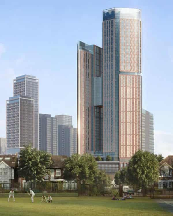 The KPF-designed tower in Ealing