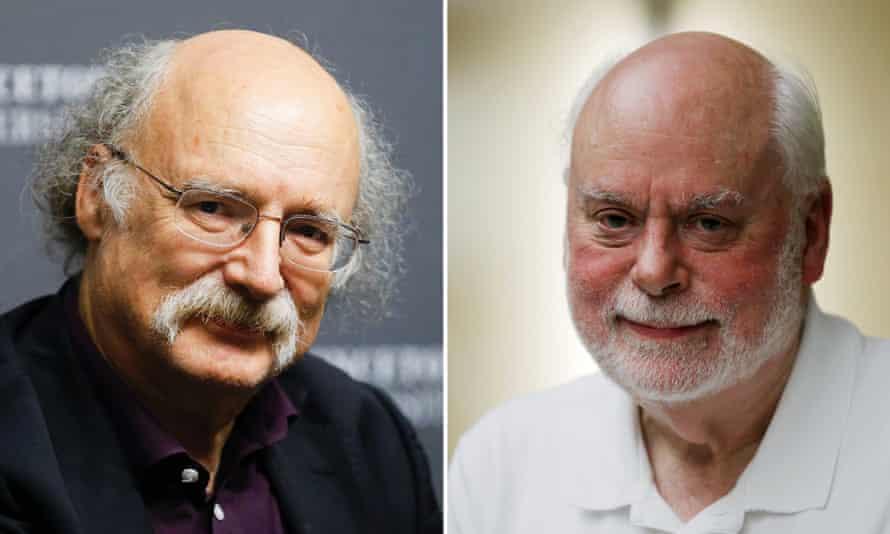 Duncan Haldane (L) and Sir Fraser Stoddart
