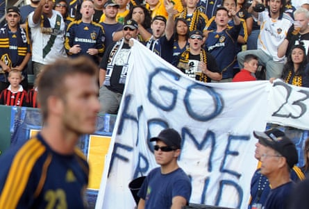 David Beckham was subject to the ire of sections of the LA Galaxy's fans