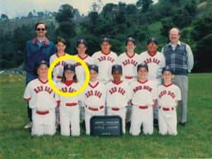 The only girl on a 1992 Rockridge Soccer Club team and a 1995 North Oakland Little League team.
