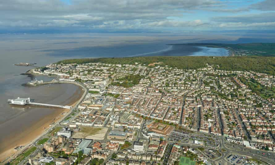 An aerial view of Weston-super-Mare.