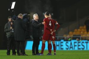 Des Kelly interviews Virgil van Dijk of Liverpool.