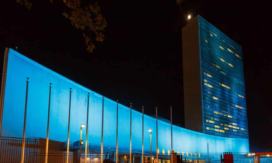Iconic buildings lit blue to mark 70th anniversary of UN